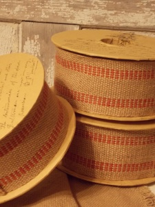 Wired, burlap ribbon