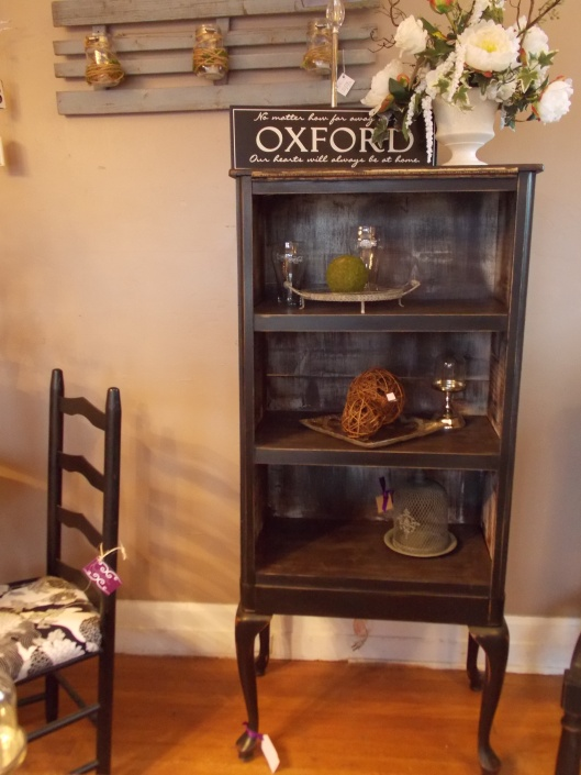 We made this bookcase from a vintage dresser and table legs...Was $225, Now $195